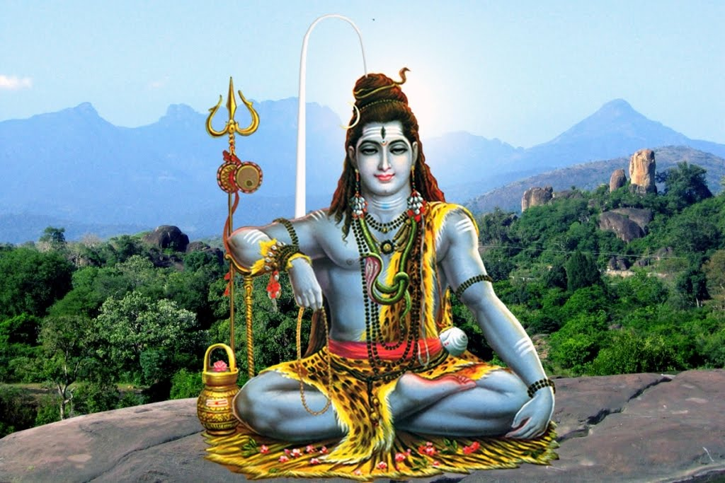 Lord-Siva-in-behind-of-pothigai-hill-view
