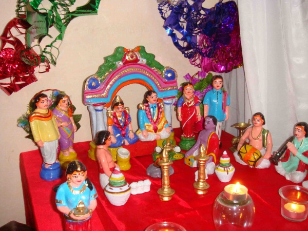 navarathri golu marriage wedding theme