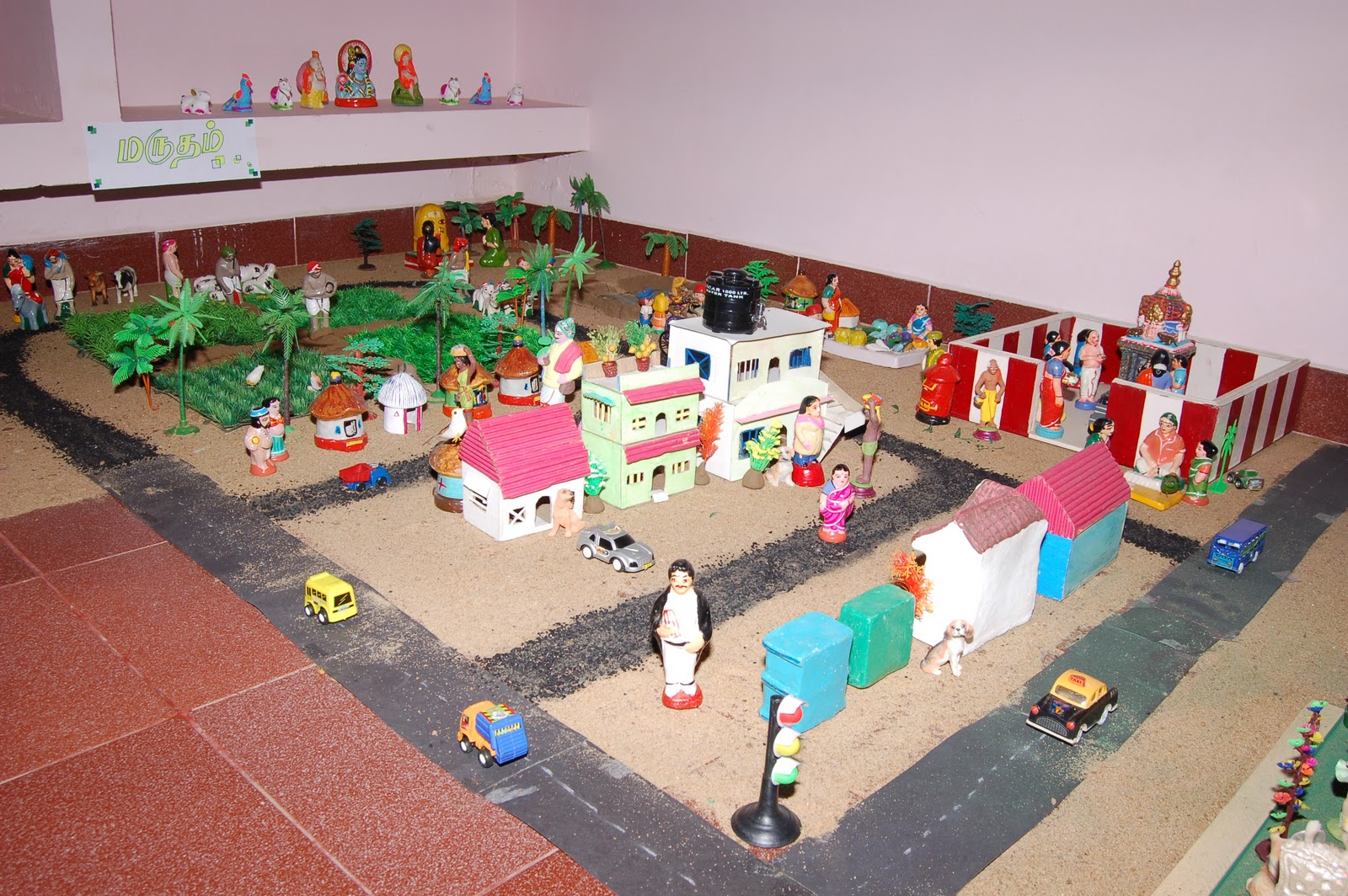 navarathri golu village and city theme