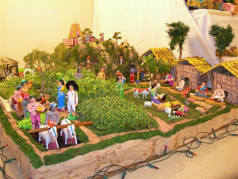 navarathri golu village farmer theme